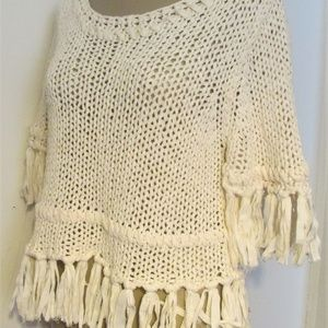 Free People Tops - FREE PEOPLE Ivory Crochet ON THE FRINGE Top
